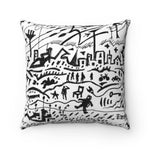 Doodle City Square Pillow Case