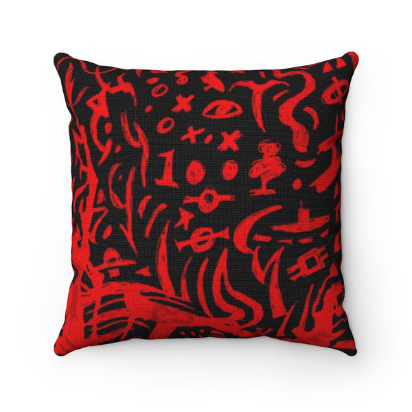Red Zone Square Pillow Case