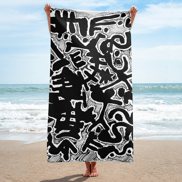 View From Above Beach Towel
