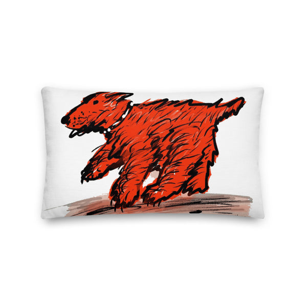 Red Dog Small Pillow