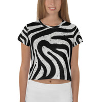 Zebra Crop Tee available in Europe only