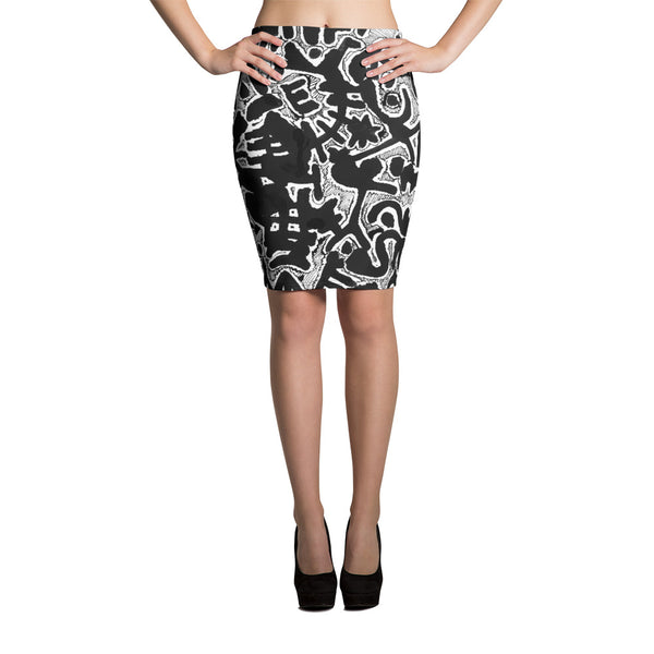 View From Above Pencil Skirt