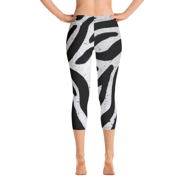 Zebra Capri Leggings