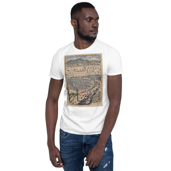 Malibu Short-Sleeve Unisex T-Shirt with larger artwork