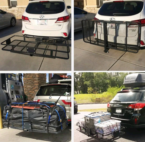 Cargo Carrier Luggage Basket Car Rack Foldable Hitch