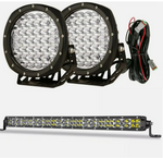 7 inch Spot Light + 20 inch Slim Led Light Bar