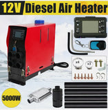 12V 5KW All IN 1 Diesel Air Heater Caravan Motorhome Camper trailer