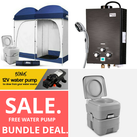 Hot Water Sytem + Double Ensuite  + Camping Toilet  Bonus FREE WATER PUMP