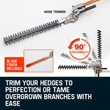 2 Stroke 8 in 1 62CC Pole Chainsaw Hedge Trimmer Brush Cutter Whipper Snipper Multi Tool