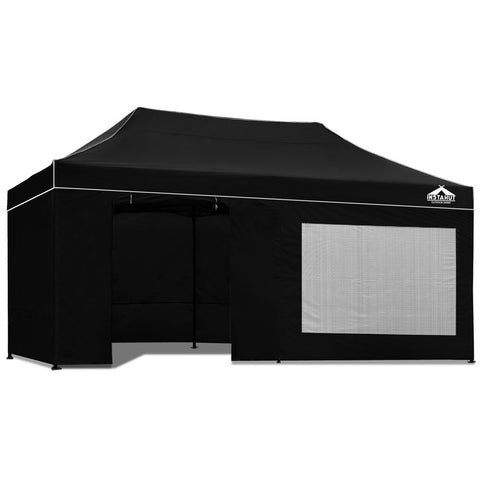 3x6M Outdoor Gazebo - Black
