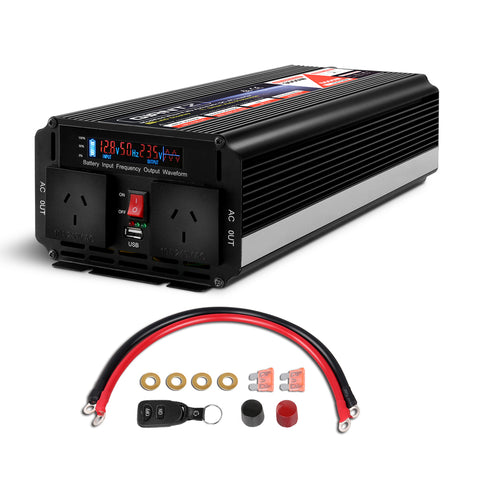 2500W Portable Power Inverter 12V - 240V
