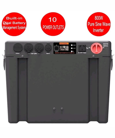 ULTIMATE-800 BATTERY BOX DUAL BATTERY SYSTEM ISOLATOR INVERTER DC DC SOLAR