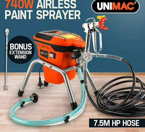NEW Unimac Pro-Airless UM-S1P 740W Electric High Pressure Mobile Paint Station