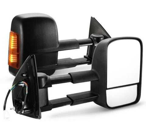 EXTENDABLE TOWING SIDE MIRRORS SUITS TOYOTA HILUX 2005-2015