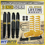 2 Inch Lift Kit Shocks Damper Brake Line King Springs for Nissan Patrol GQ GU