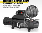 4WD FR 13000LB 12 Electric Winch Synthetic Rope