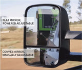 Extendable Towing Mirrors For Ford Ranger PX PX2 XL XLT Wildtrak 2012 -UP