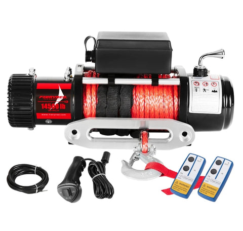 14500LBS Electric Winch 6.0HP 26Mx9.5mm Synthetic Rope