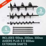 88CC Posthole Earth Auger Fence Borer Petrol Drill Bit