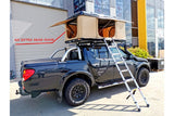 Hard Shell Roof Top Tent Camping 4WD White Top Rack Extra Wide 140cm 210X140cm