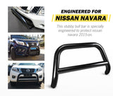 Matt Black Steel Nudge Bar  Nissan Navara NP300 2015-2020