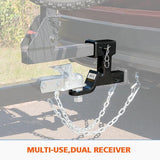 "Dual Hitch Ball Mount Tongue Multi Use 2"" Tow Bar"