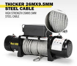 14500LBS 12V Electric Winch Steel Cable