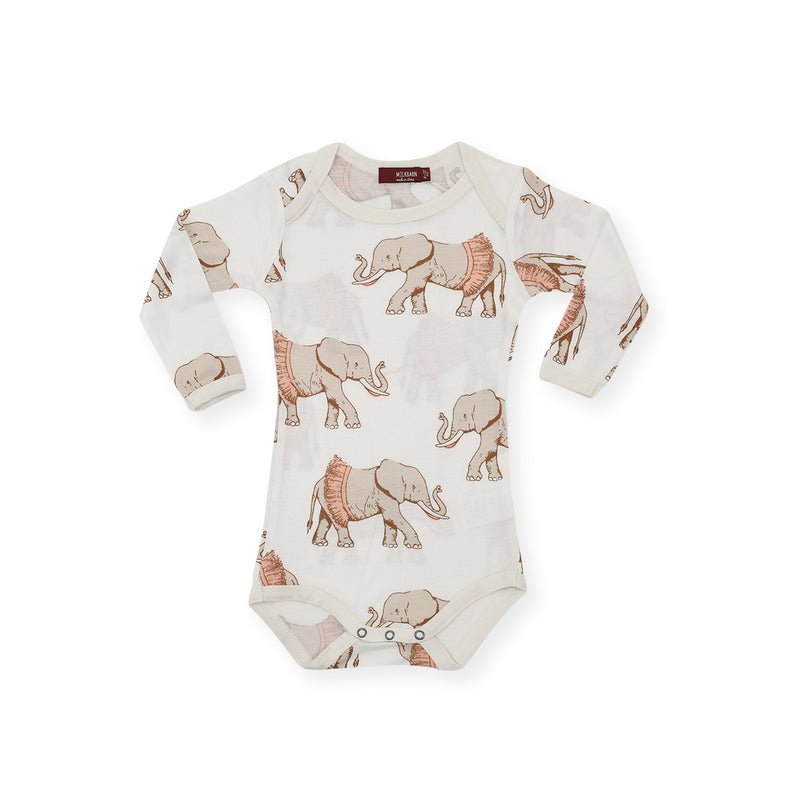 Long Sleeve One Piece - Tutu Elephant