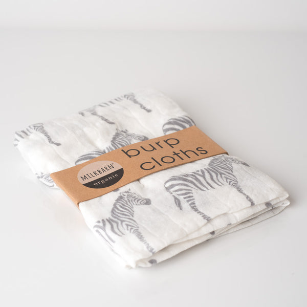 Organic Burpies - Grey Zebra