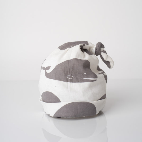 Organic Cotton Knotted Hat - Grey Whale