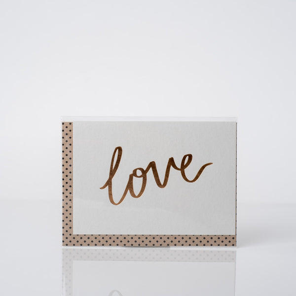 Love Luxe Foil Greeting Card