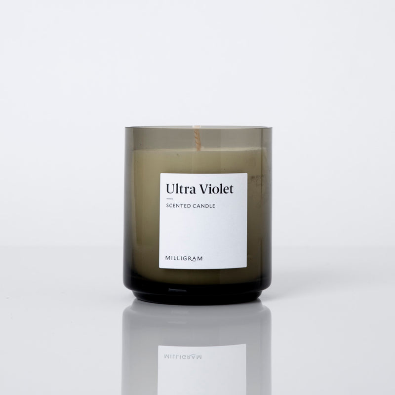 Ultra Violet Scented Candle | Milligram Studio
