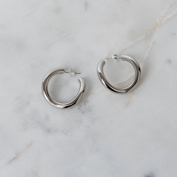 CONTOUR HOOPS | SILVER