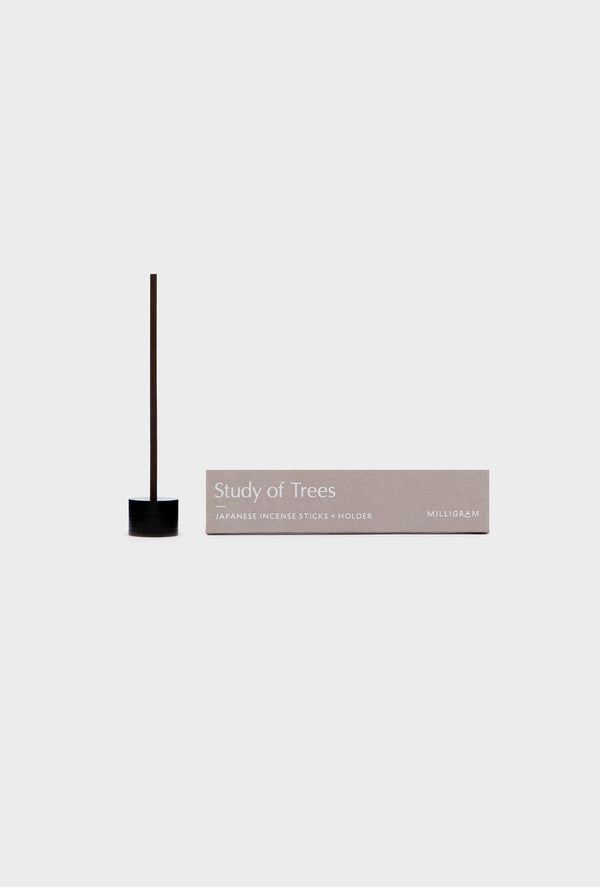 Study of Trees Japanese Incense Sticks and Holder | Milligram Studio