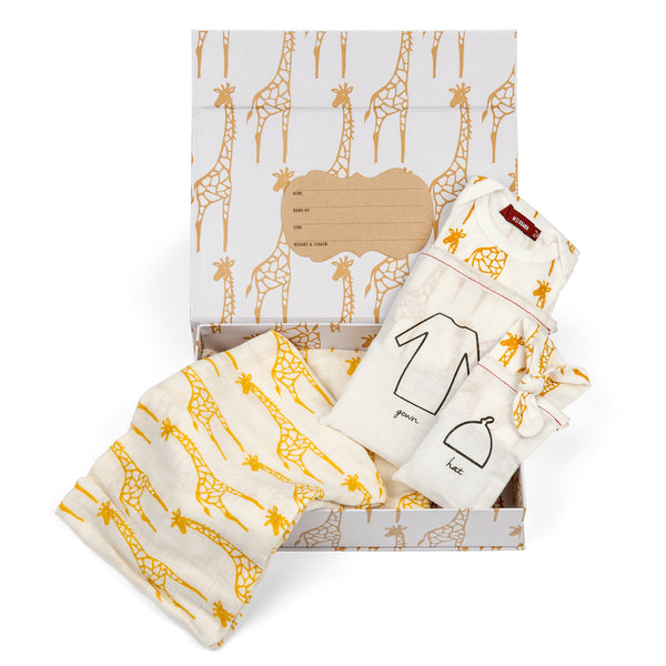 NEWBORN KEEPSAKE SET | YELLOW GIRAFFE