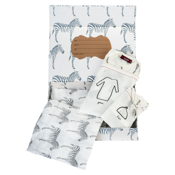 NEWBORN KEEPSAKE SET | GREY ZEBRA