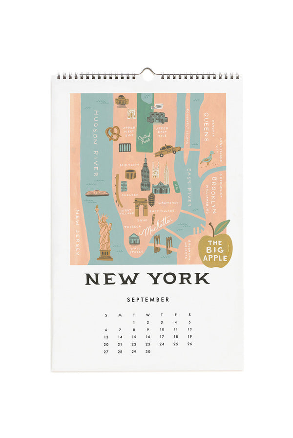 2020 WALL CALENDAR | CITY MAPS