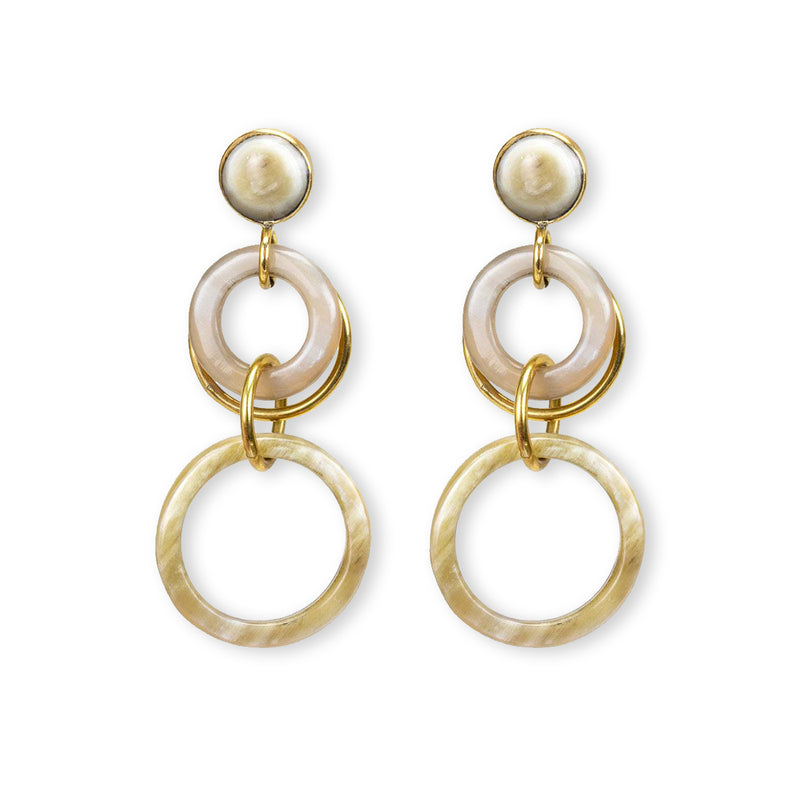 NAYO STATEMENT EARRINGS - NATURAL