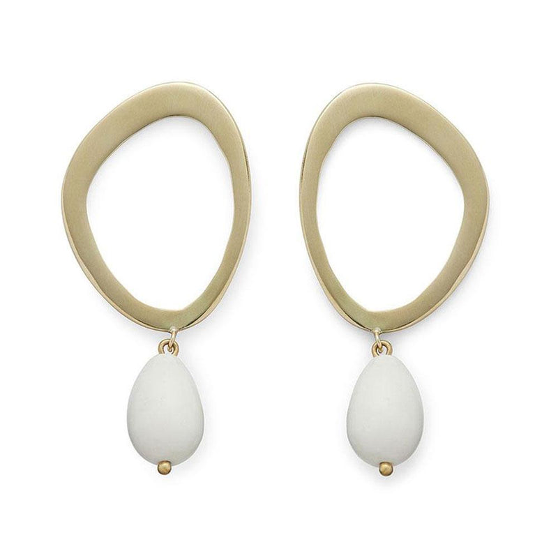 SABI PEARL DROP EARRINGS | WHITE