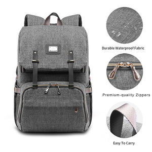 Grey Baby Diaper Bag - mommythingz