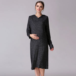 Casual Long Sleeve Maternity dress - mommythingz