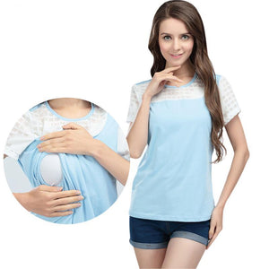 Short Sleeve Nursing Top - mommythingz