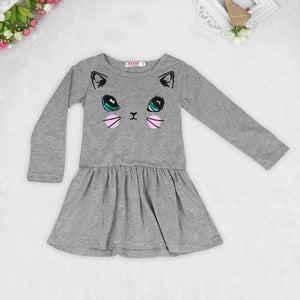 Cat Printed Dress - mommythingz