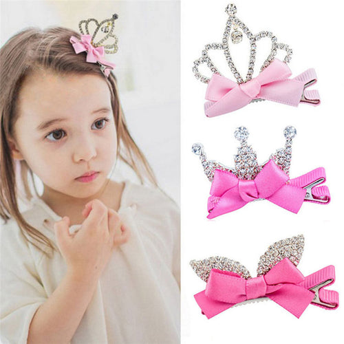 1Pcs Girls Hair Clip Crystal - mommythingz