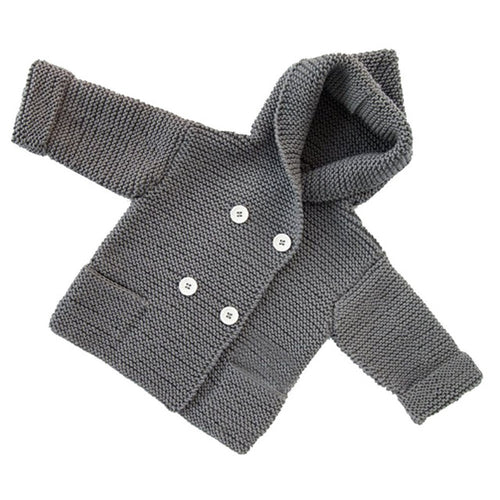Toddler Boys / Girls Button Hooded Cardigan - mommythingz