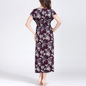 Long Floral Maternity Dress - mommythingz