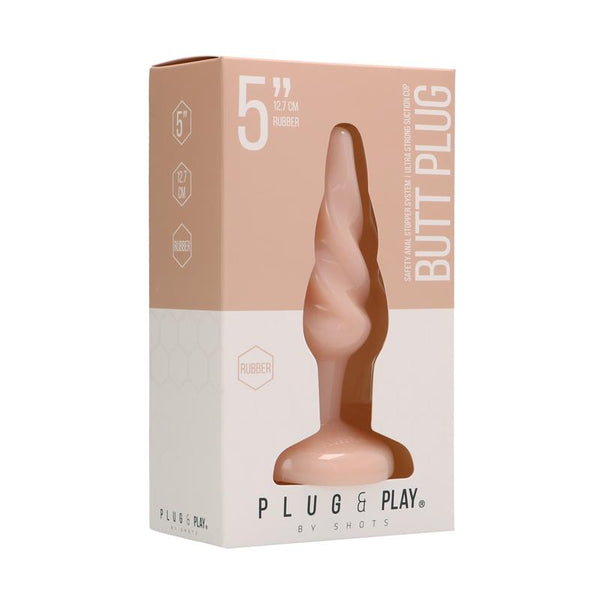 PLUG & PLAY Butt Plug Rounded 12,7cm Natural Color