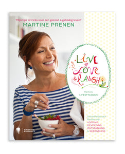 Boekcover Live, Love, Laugh van Martine Prenen door Mino