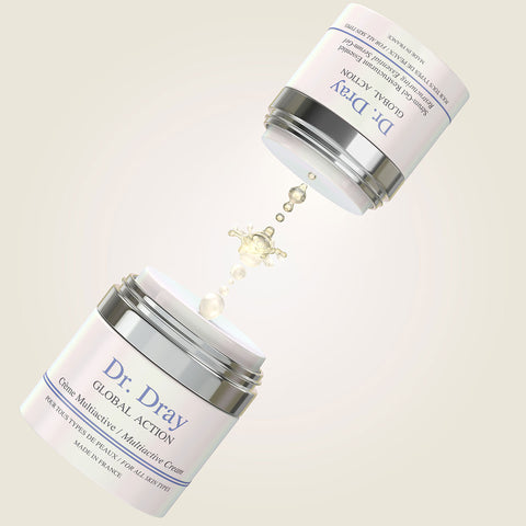Dr. Dray's Duo Global Action joins forces to achieve a firmer and brighter face.