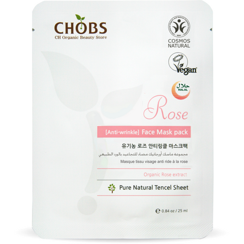 CHOBS Rose Anti-Wrinkle Face Mask